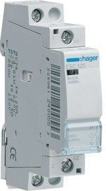 <p> Moodulkontaktor 1-faasiline 25A(4,6kW), ESC125, Hager, 240055</p>