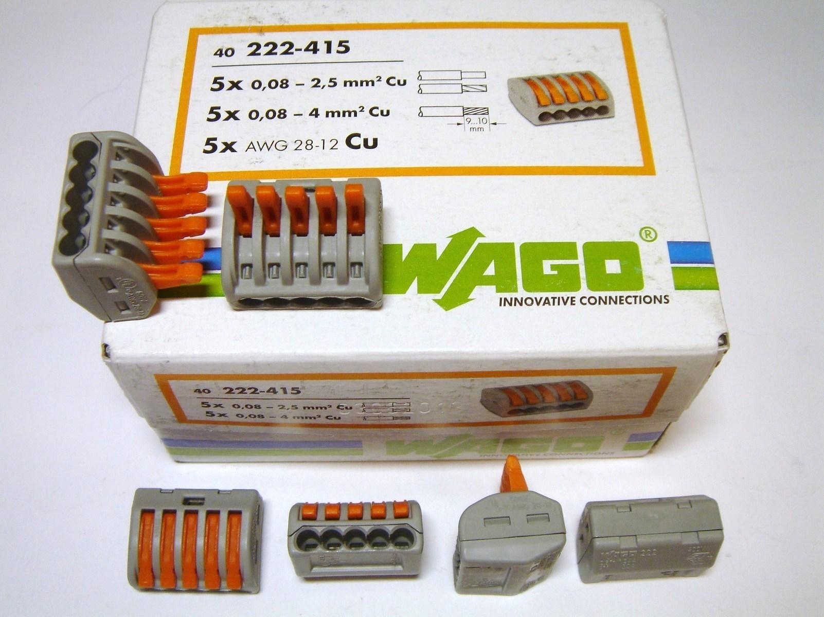 Klemmid Wago 5 x 0,08 - 4 mm² (avatavad), 222-415