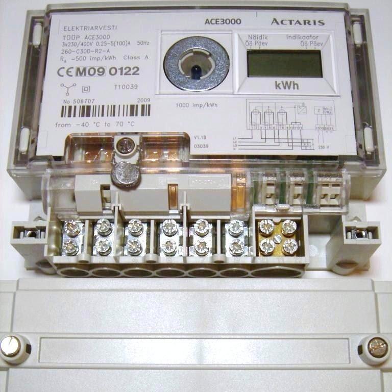 Электросчётчик 3-фазный 2-тарифный 5-100A, ACE3000, Actaris