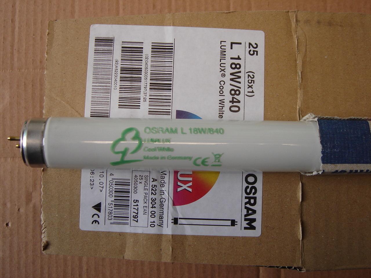 Luminofoortoru 18 W, L18W/840, Osram Lumilux T8, 517797