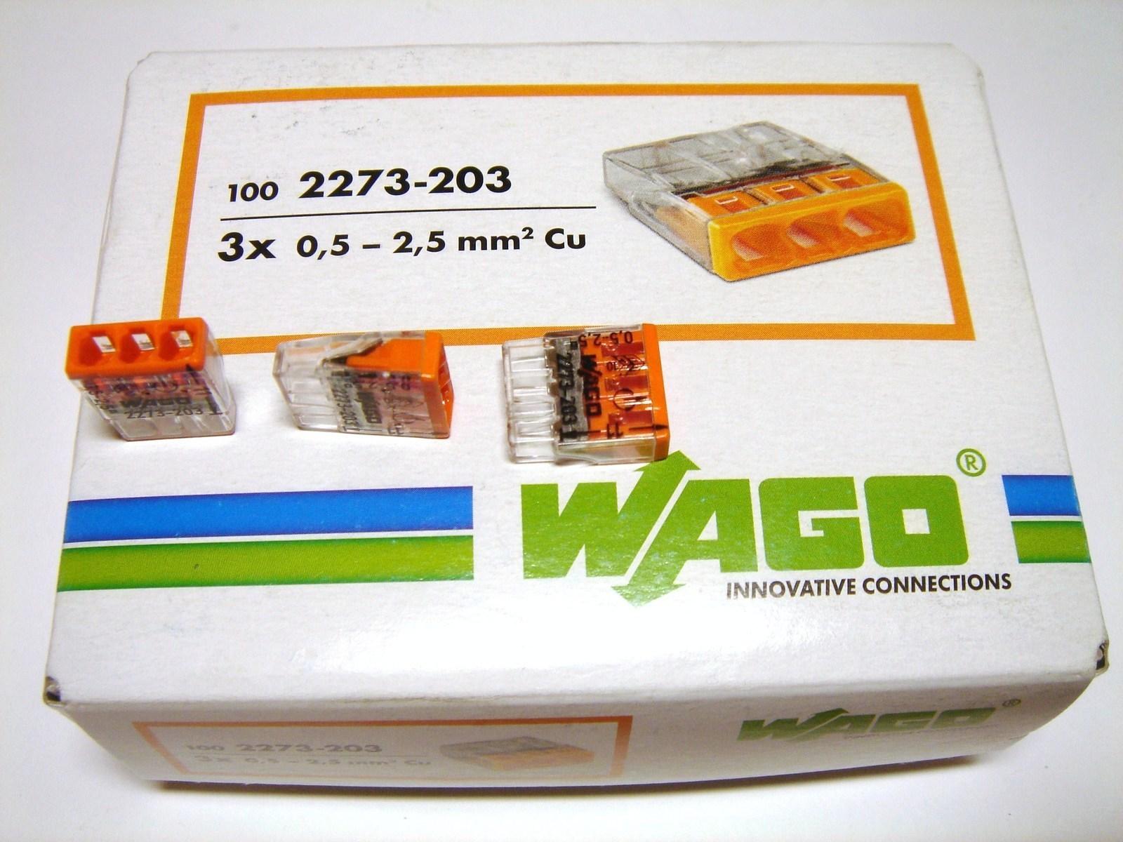 Klemmid Wago 3 x 0,5-2,5 mm², 2273-203