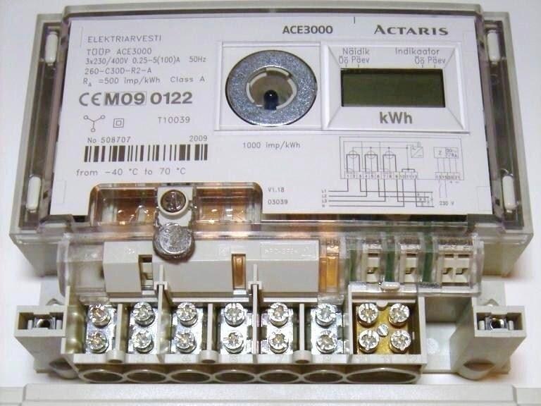 Ostan elektriarvesteid 3-faasilisi 2-tariifseid 5-100A