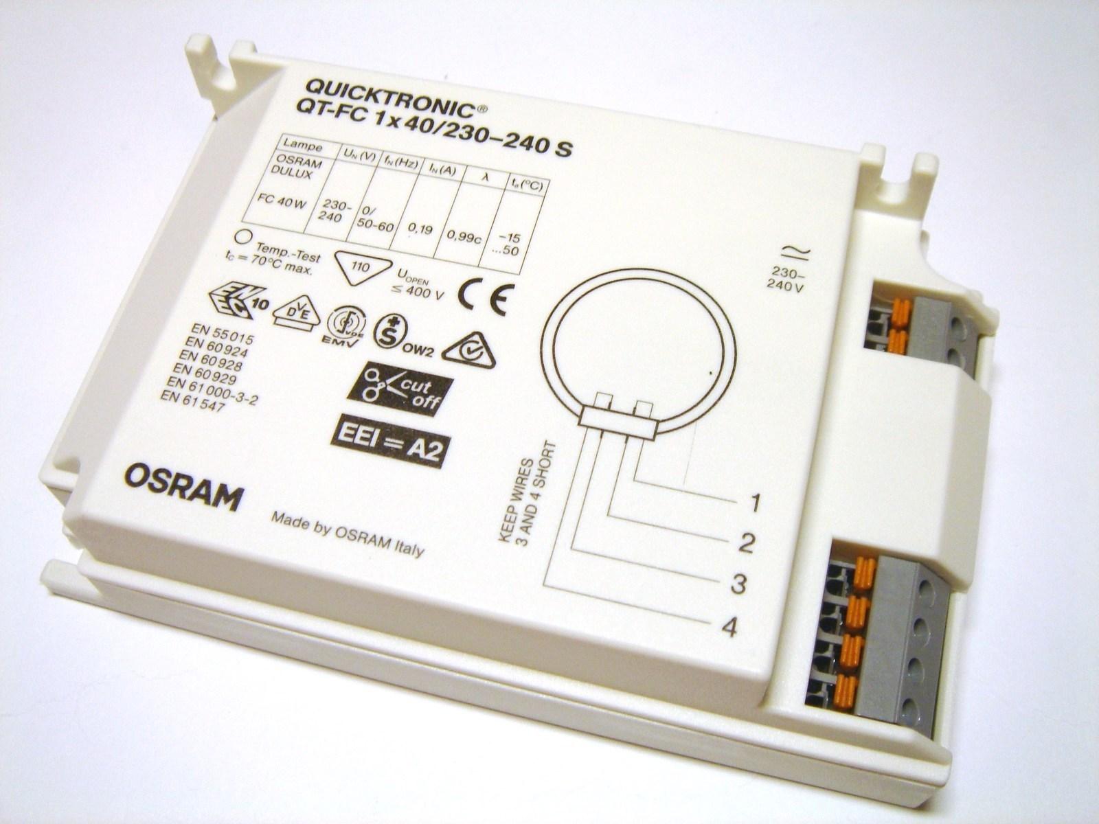 Elektrooniline drossel 1x40 W, Osram, Quicktronic® QT-FC 1x40/230-240 S