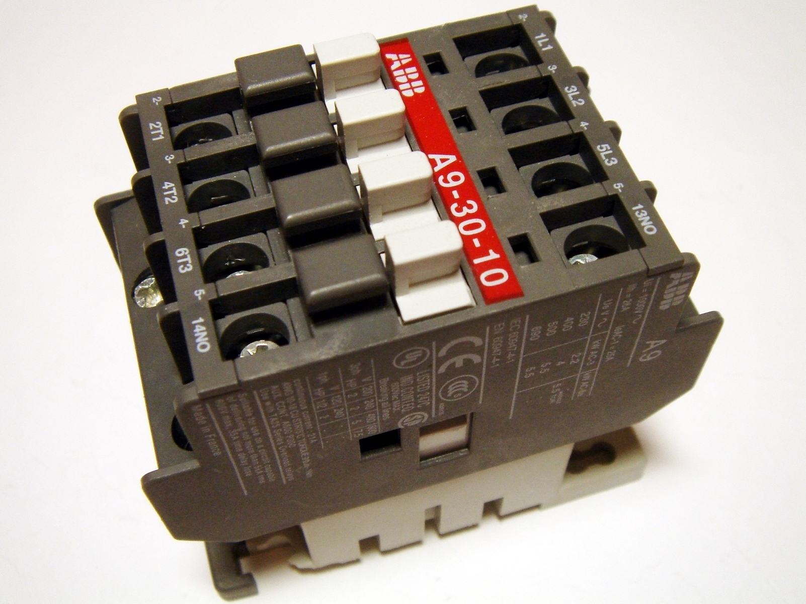 Kontaktor 3-faasiline 25A(16kW), A9-30-10, ABB, 1SBL141001R8010
