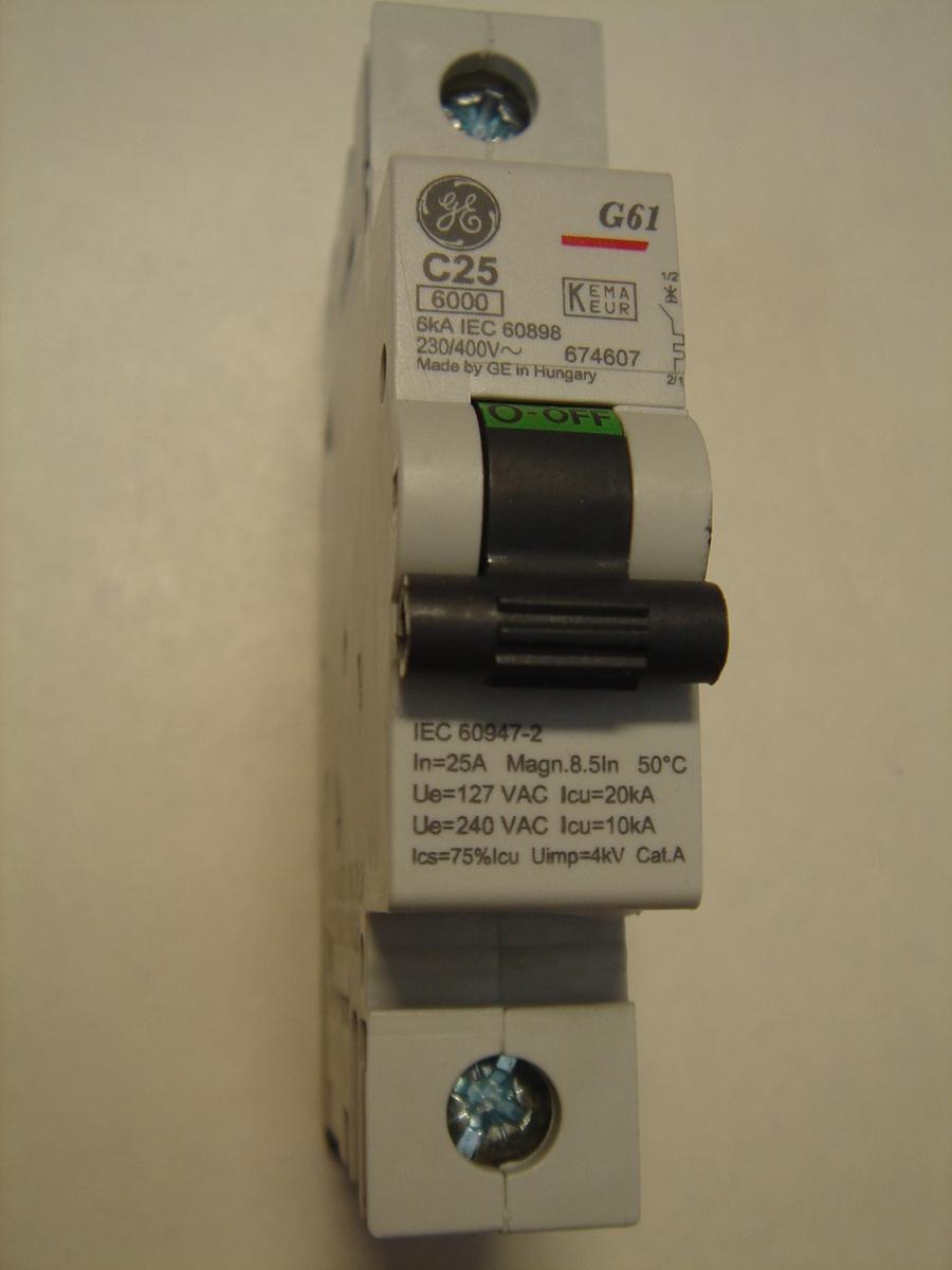 Ostan moodulkaitselüliteid 1-faasilisi, C 25A, General Electric