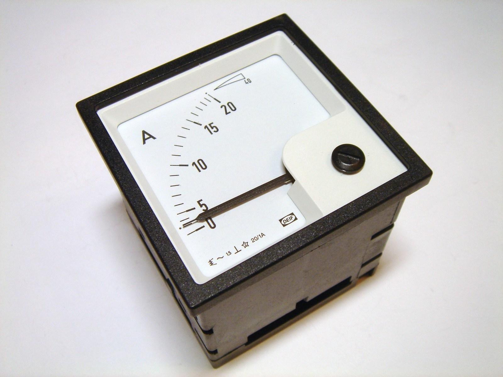 Ampermeeter analoog 0-20A, EQ72-x, Deif
