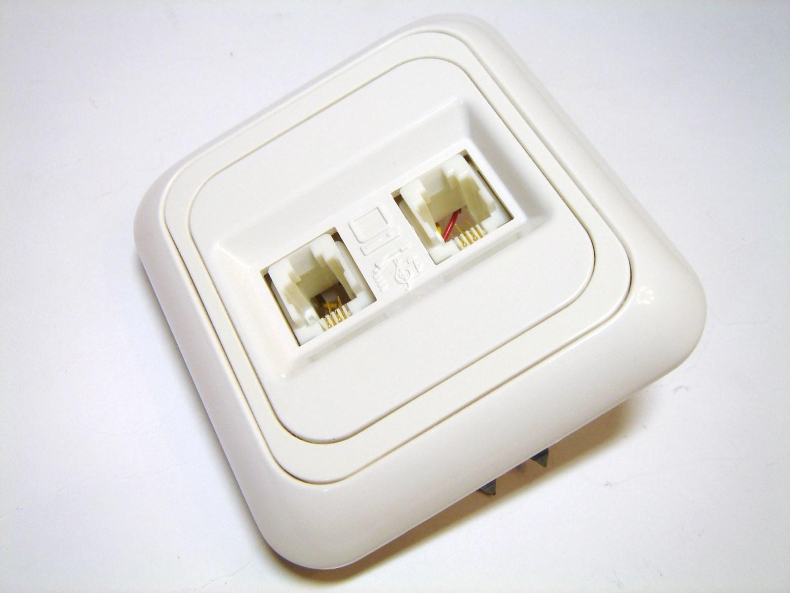 Telefoni süvispaigaldusega pistikupesad 2-sed,VI-KO (sari - Yasemin)