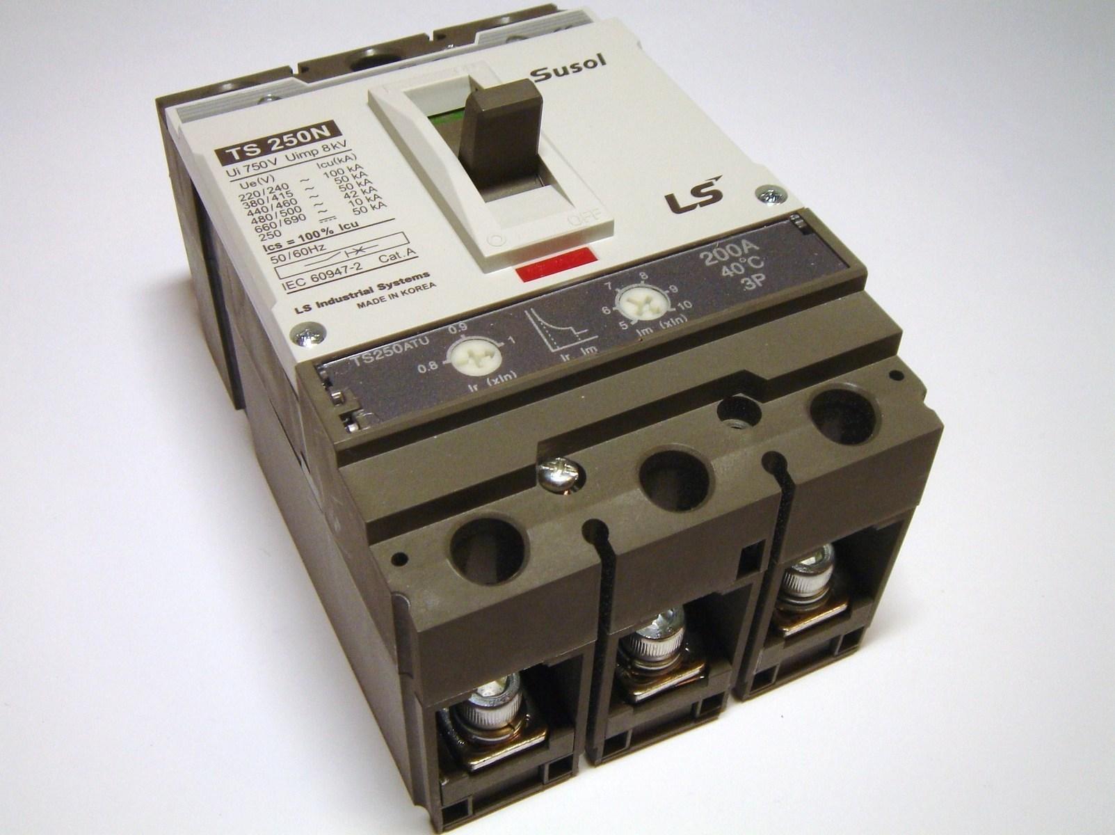 Kaitselüliti 3-faasiline, 200A, Susol, TS250ATU, LS Industrial Systems