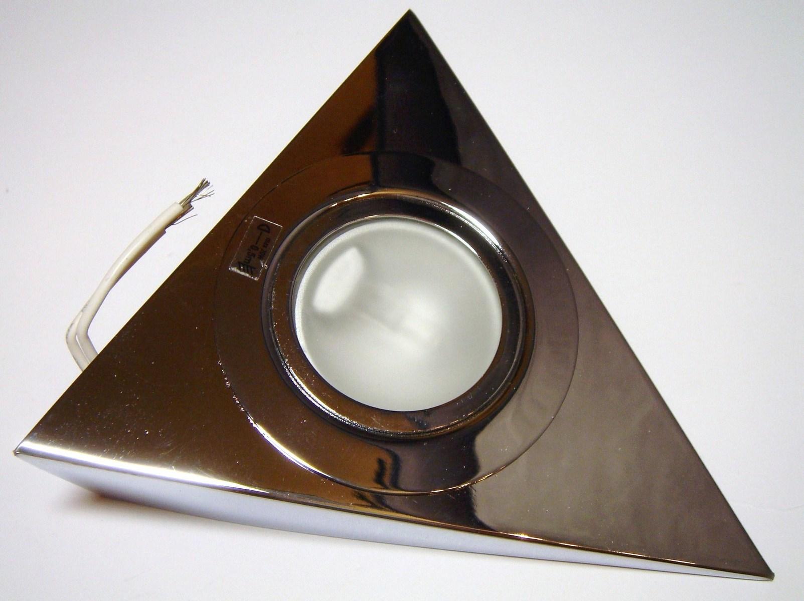 Kolmnurkne halogeen mööblivalgusti 12V, Kanlux, Zepo LFD-T02-C, värv kroom, 04380