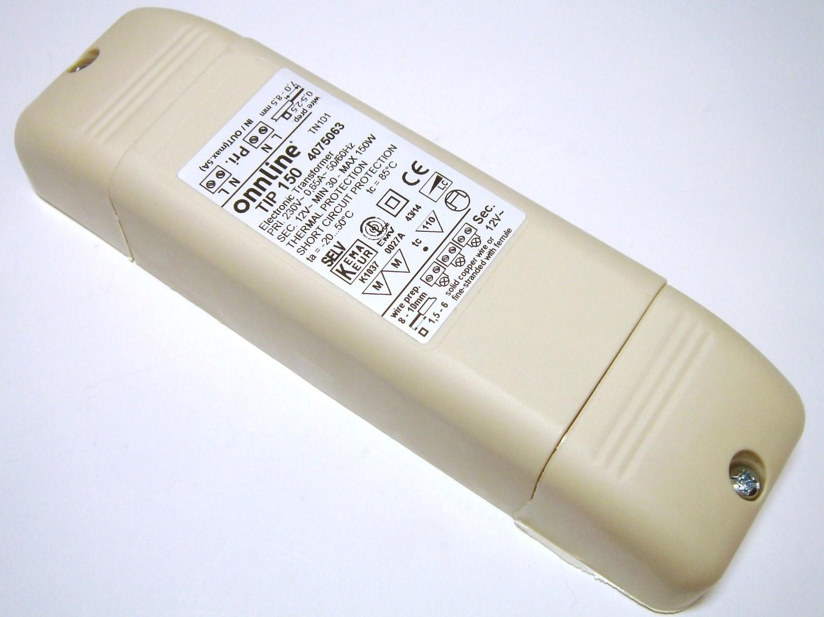 Elektrooniline trafo 12 V, 30-150 W, Onnline, TIP150, 4075063