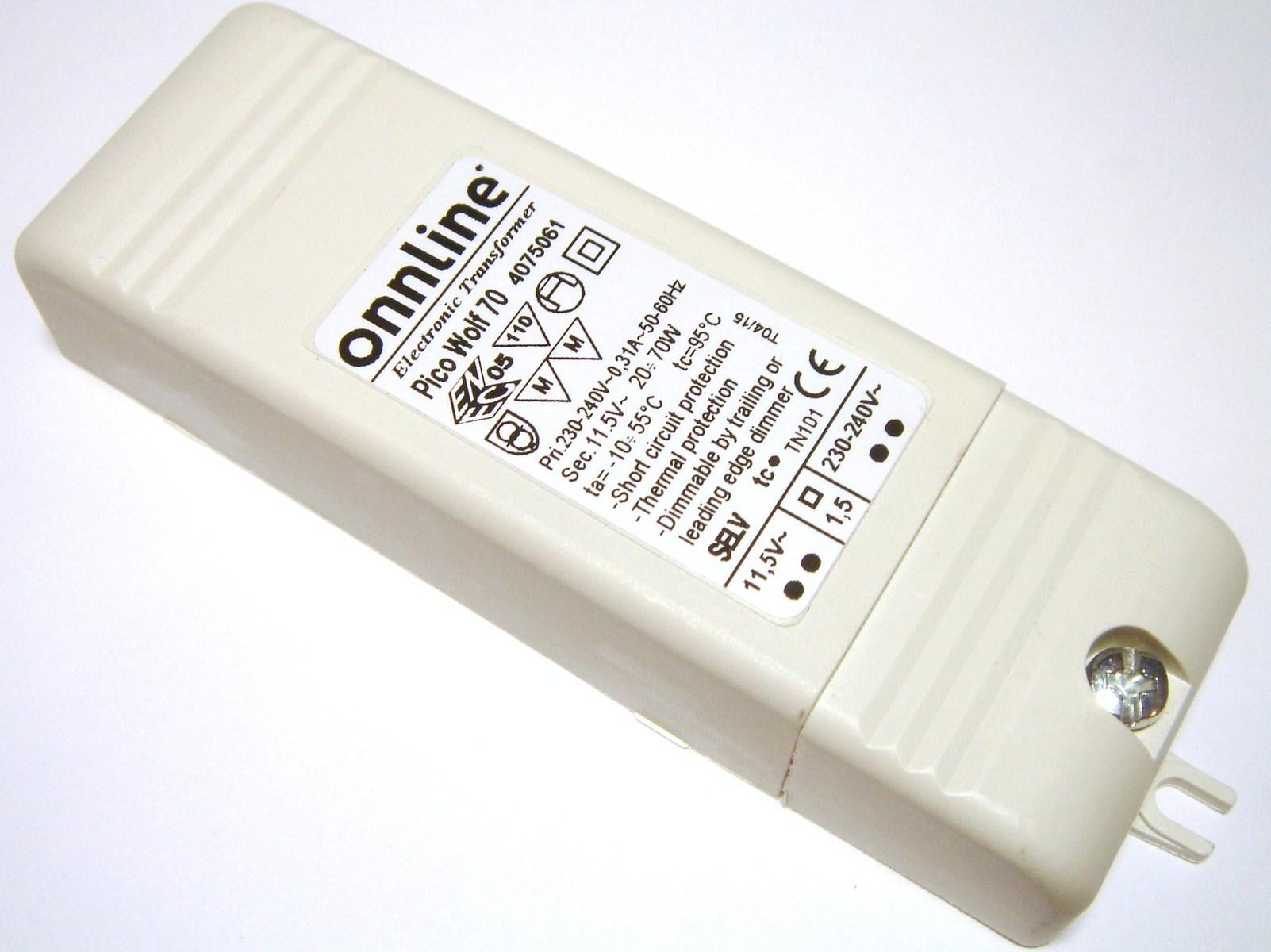Elektrooniline trafo 12V, 20-70W, Onnline, Pico Wolf 70, 4075061