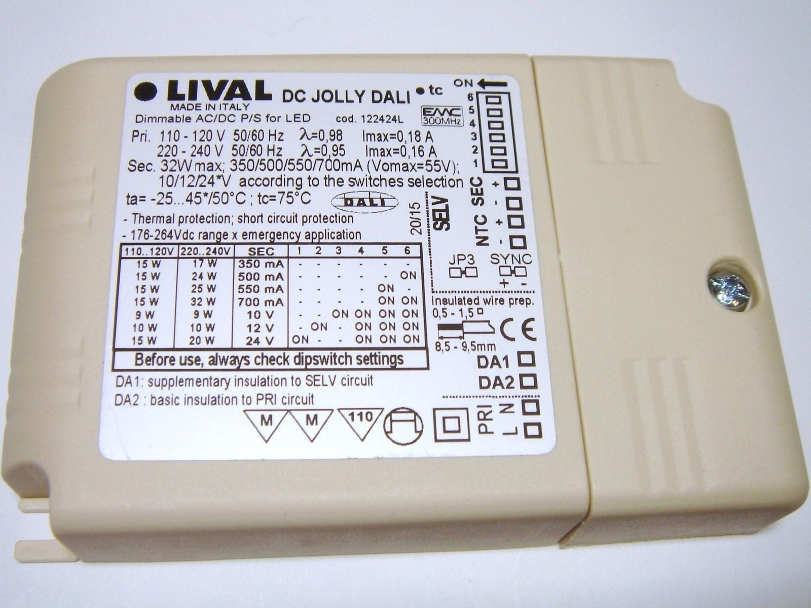 Elektrooniline  LED  trafo 9-32W, 350-700mA, max. 55V, DC Jolly Dali, 122424L, Lival
