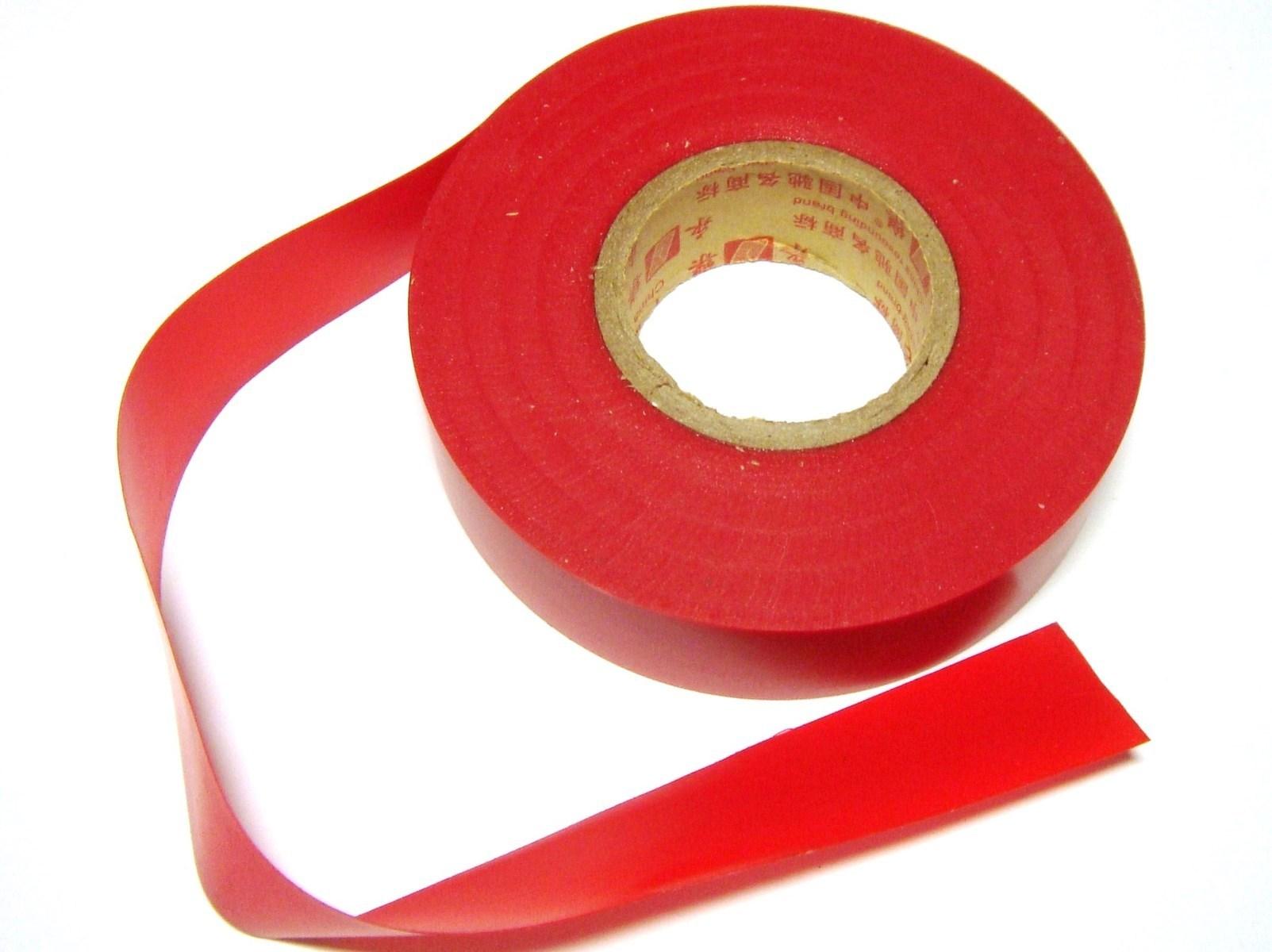 Elektriteip 19mmx24m, punane