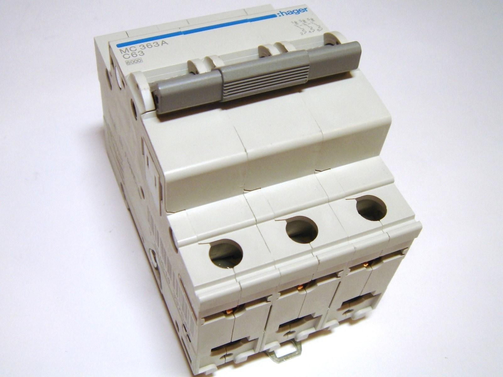 Moodulkaitselüliti 3-faasiline, B 63A, Hager, MB363A, 432739