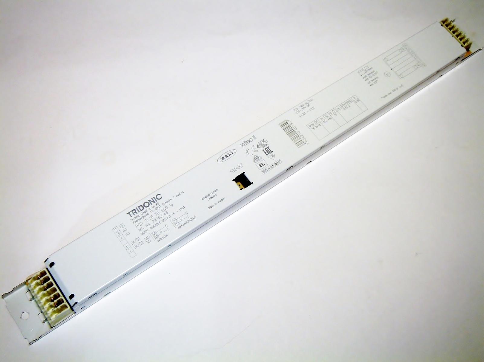 Elektrooniline drossel 2x18 W, Tridonic, PCA 2x18 T8 ECO Ip, 22185243