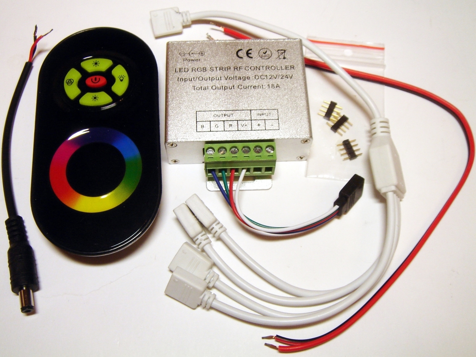 89d398f01c7 RGB kaugjuhtimispult ja vastuvõtja LED riba juhtimiseks, kontroller ...
