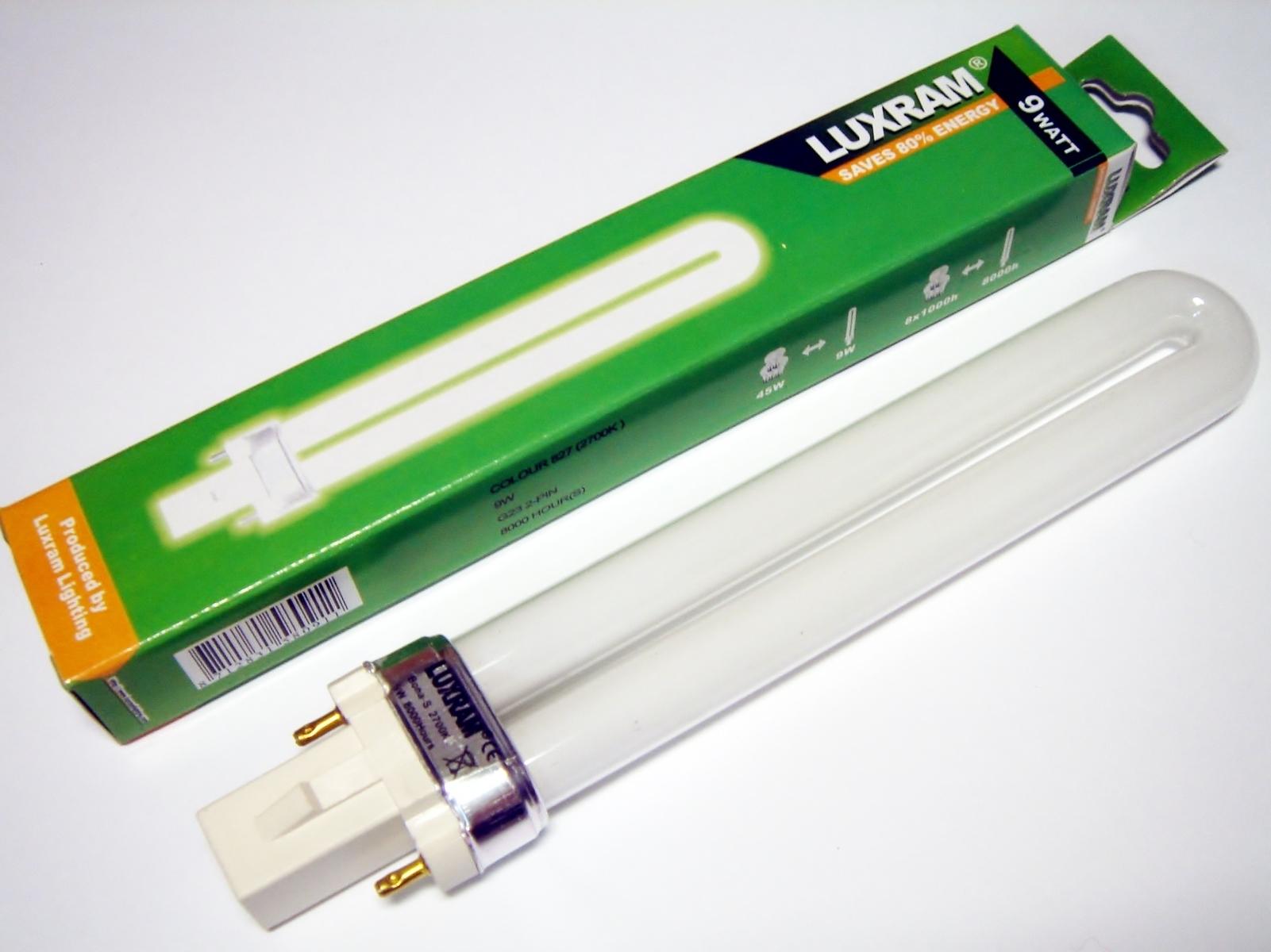 Kompakt-luminofoorlamp 9 W, Luxram Bona-S, 9W/827/G23,  2-PIN , 608823090