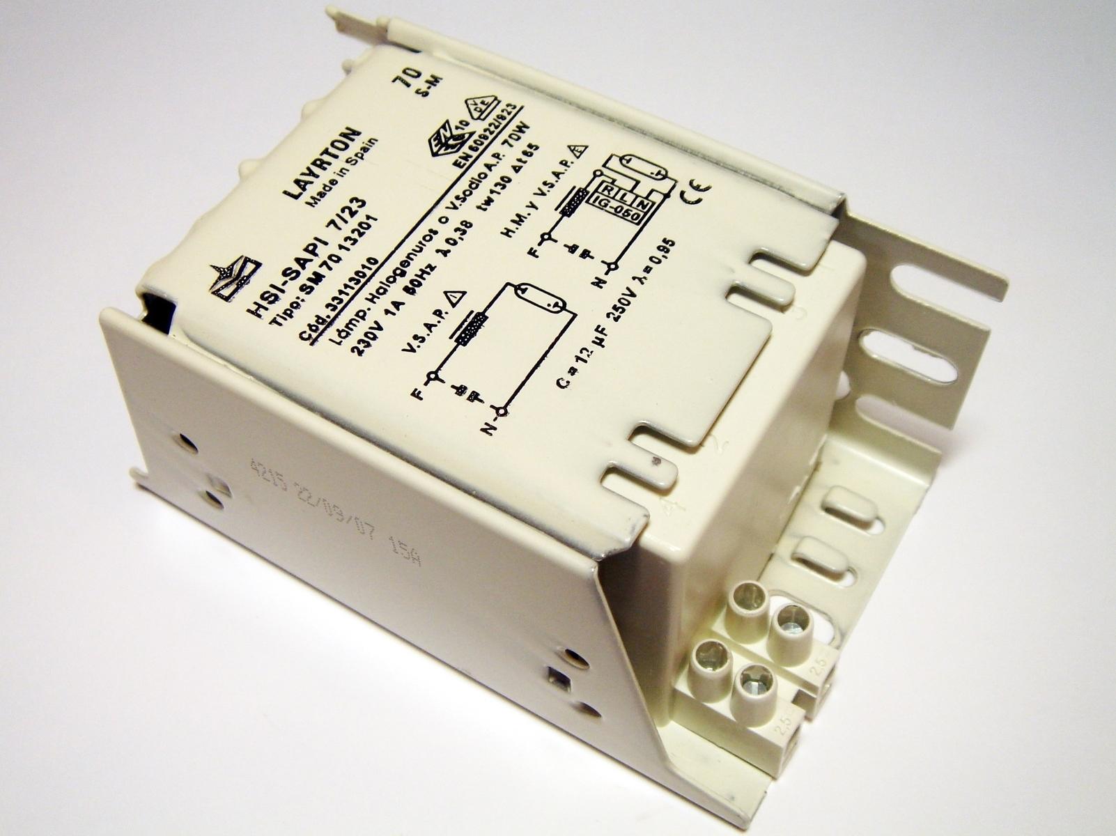 Ballast 70 W, HSI-SAPI 7/23, Layrton SM70 13201, 33113010