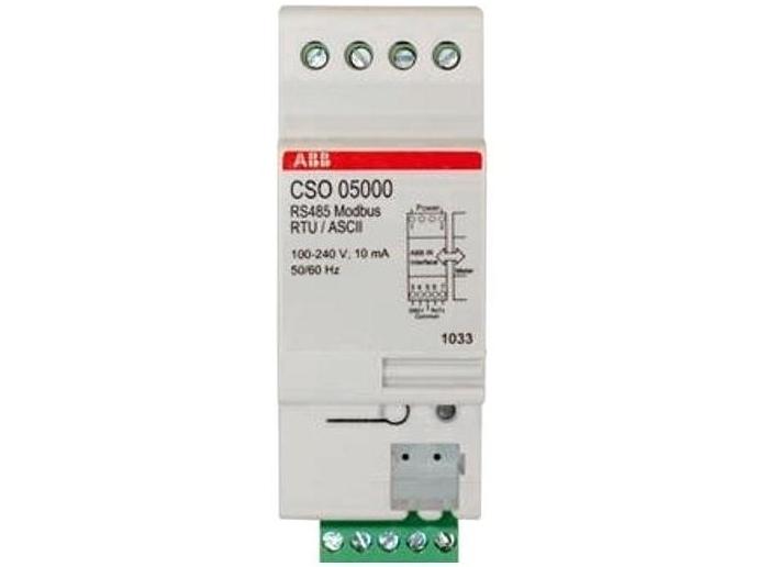 Moodulelektriarvestite ABB näitude kauglugemissüsteem RS485 Modbus RTU/ ASCII Adapter, CSO 05000, 2CMA137124R1000