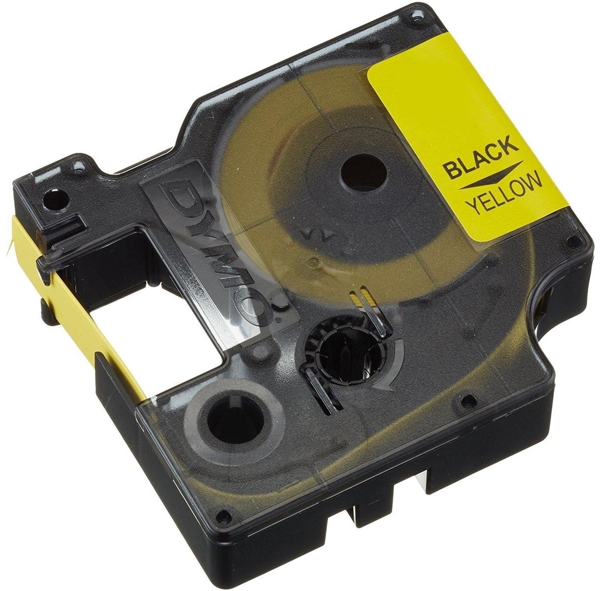 Termokahanev toruprinterile, 19mm x 1,5m, kollane toru/must tekst, Dymo 3M, PLHS-YEL-19