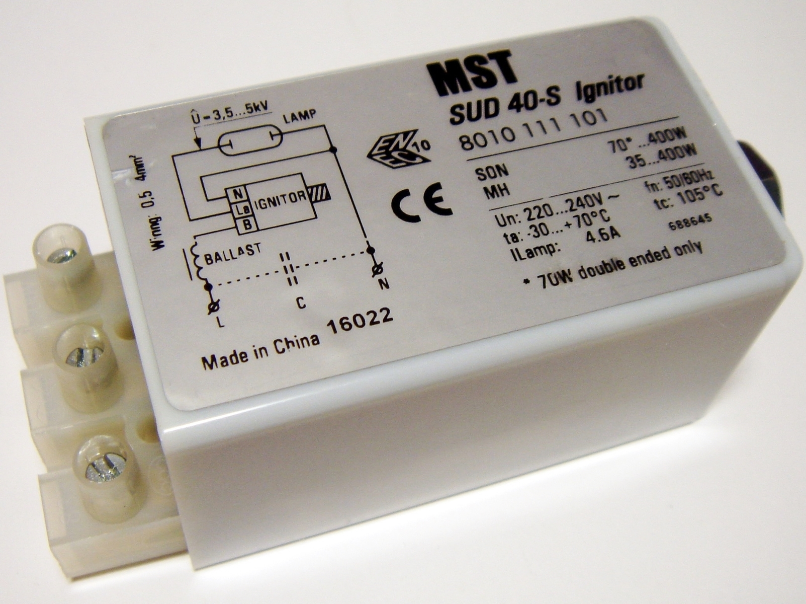 Süütur SUD 40-S, 35-400 W, MST
