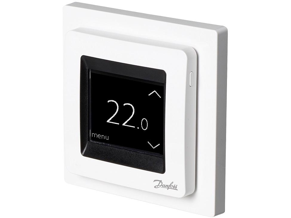 Termostaat Danfoss ECtemp™ Touch Pure White, (16А) 3680 W, 088L0122