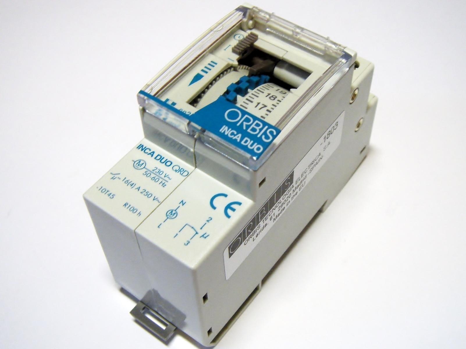 Ööpäevane elektromehaaniline aegrelee Orbis, Inca Duo QRD, OB330232