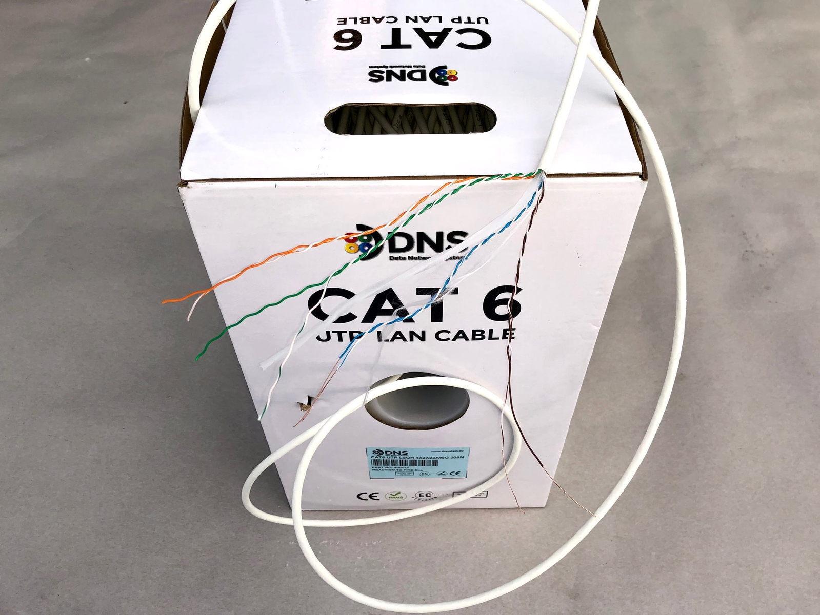 Halogeenivaba  arvutivõrgu kaabel Cat 6 U/UTP, 4x2x0,5 mm, DNS