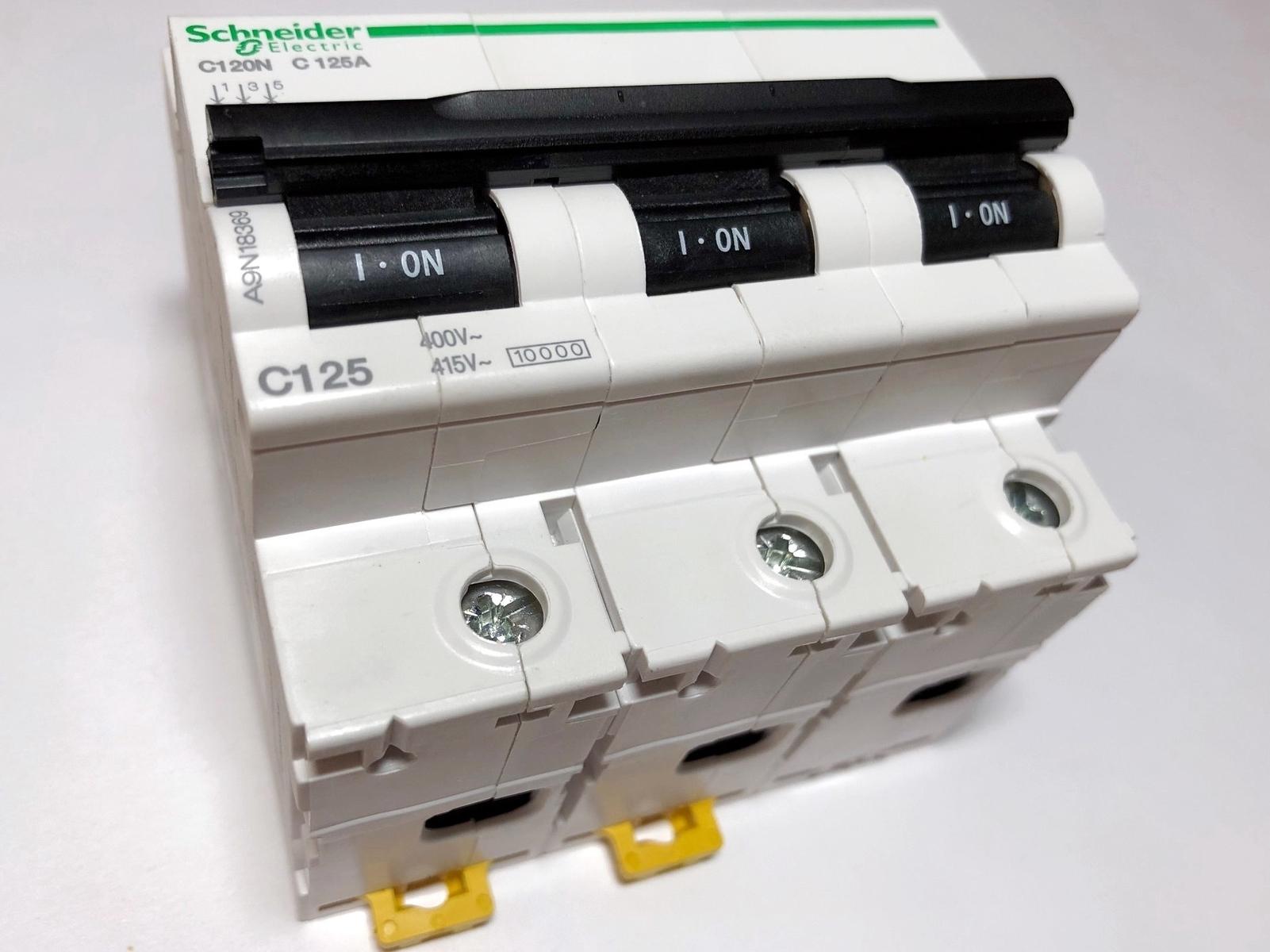 Moodulkaitselüliti 3-faasiline, C 125A, Schneider Electric, C120N, A9N18369