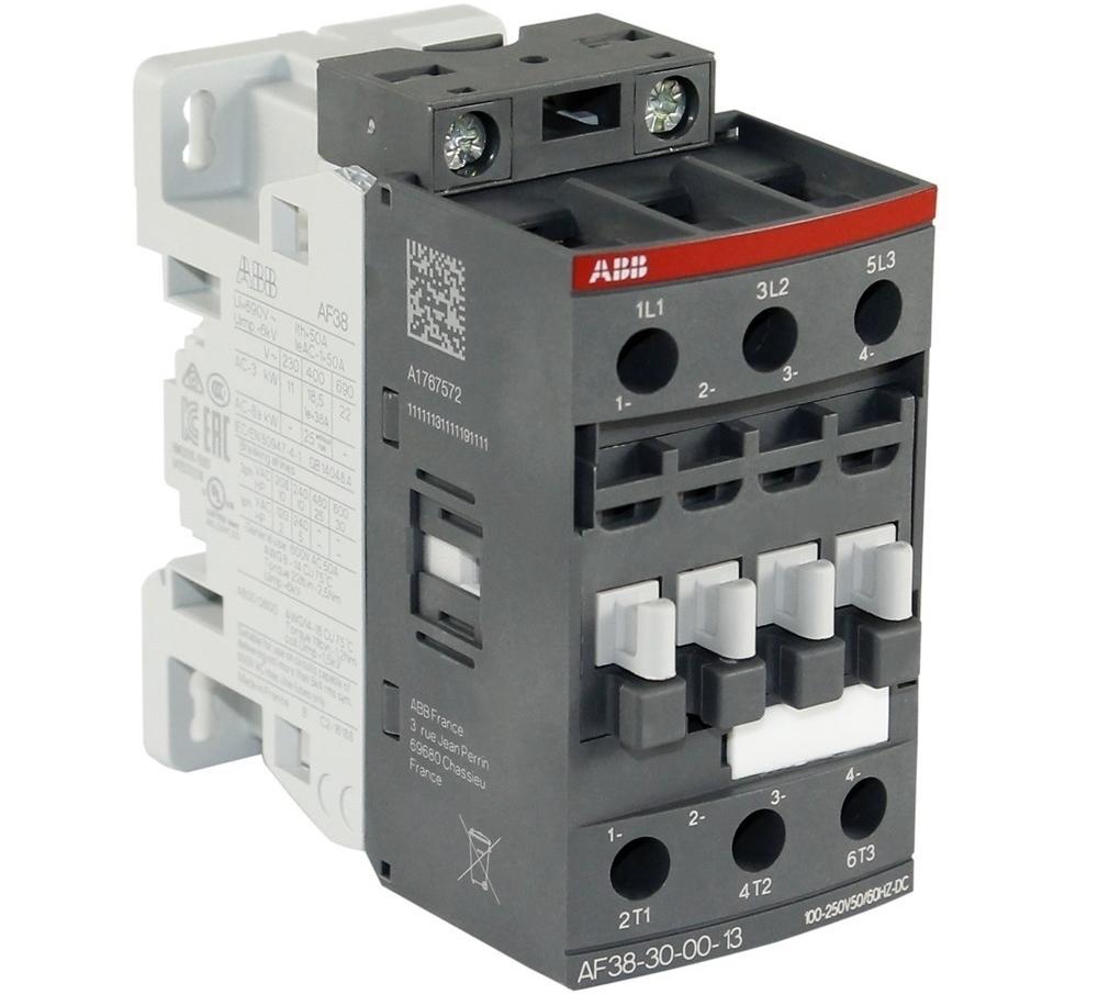 Kontaktor 3-faasiline 50A(32kW), AF38-30-00-13, ABB, 1SBL297001R1300