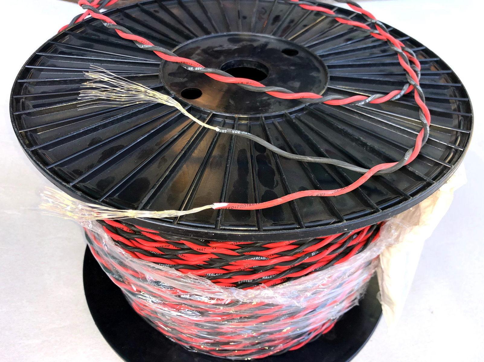 Halogeenivaba  vask juhe 2x1,5 mm², kiuline, Betatherm 145, must/punane