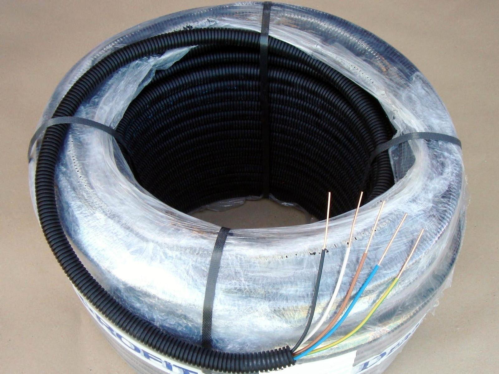 Halogeenivaba  painduv kõritoru juhtmetega 5 x 1,5 mm², Monflex