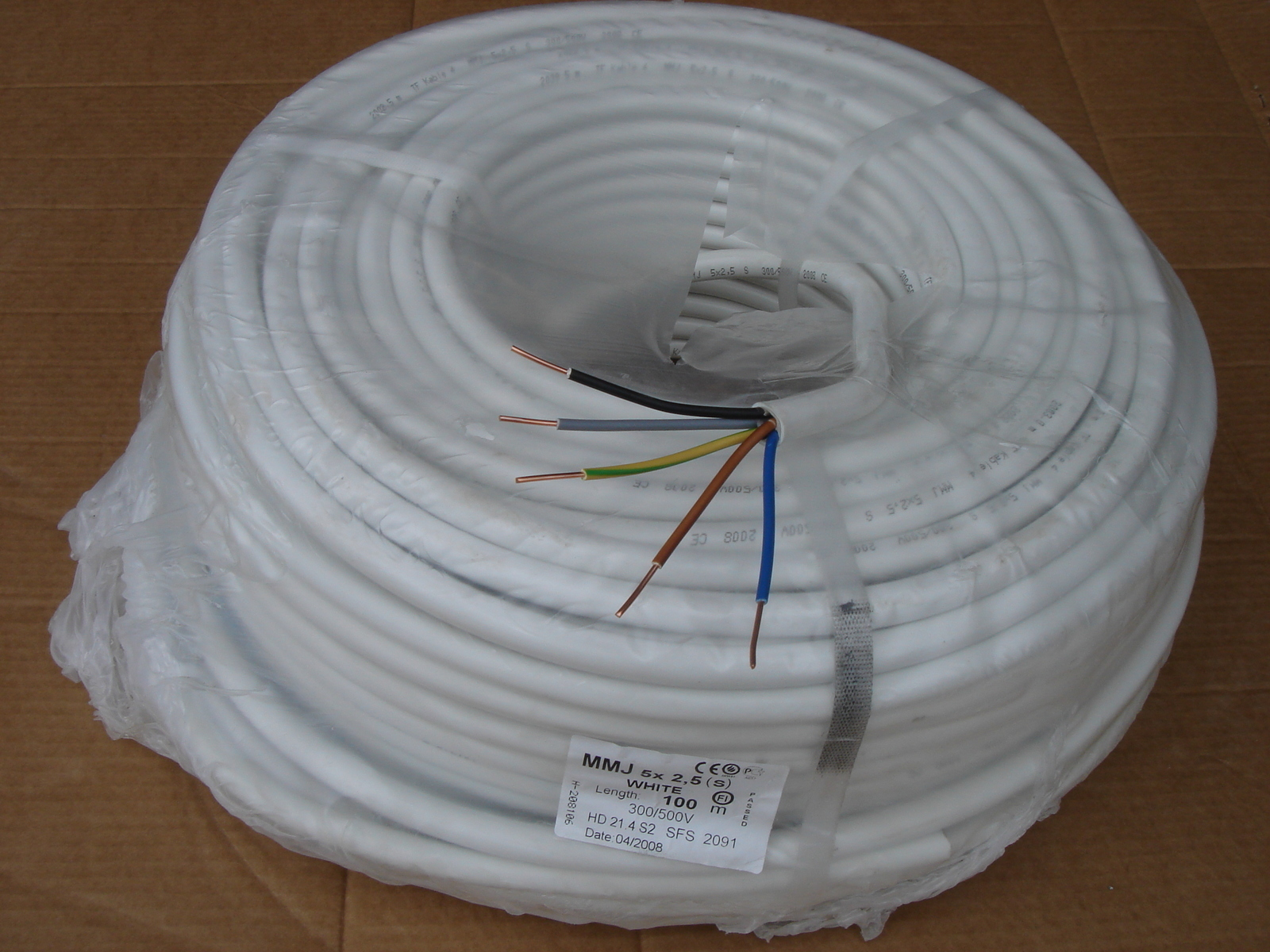 Ostan  halogeenivaba  vaskkaablit 5 G 2,5 mm², XPJ-HF D, Draka