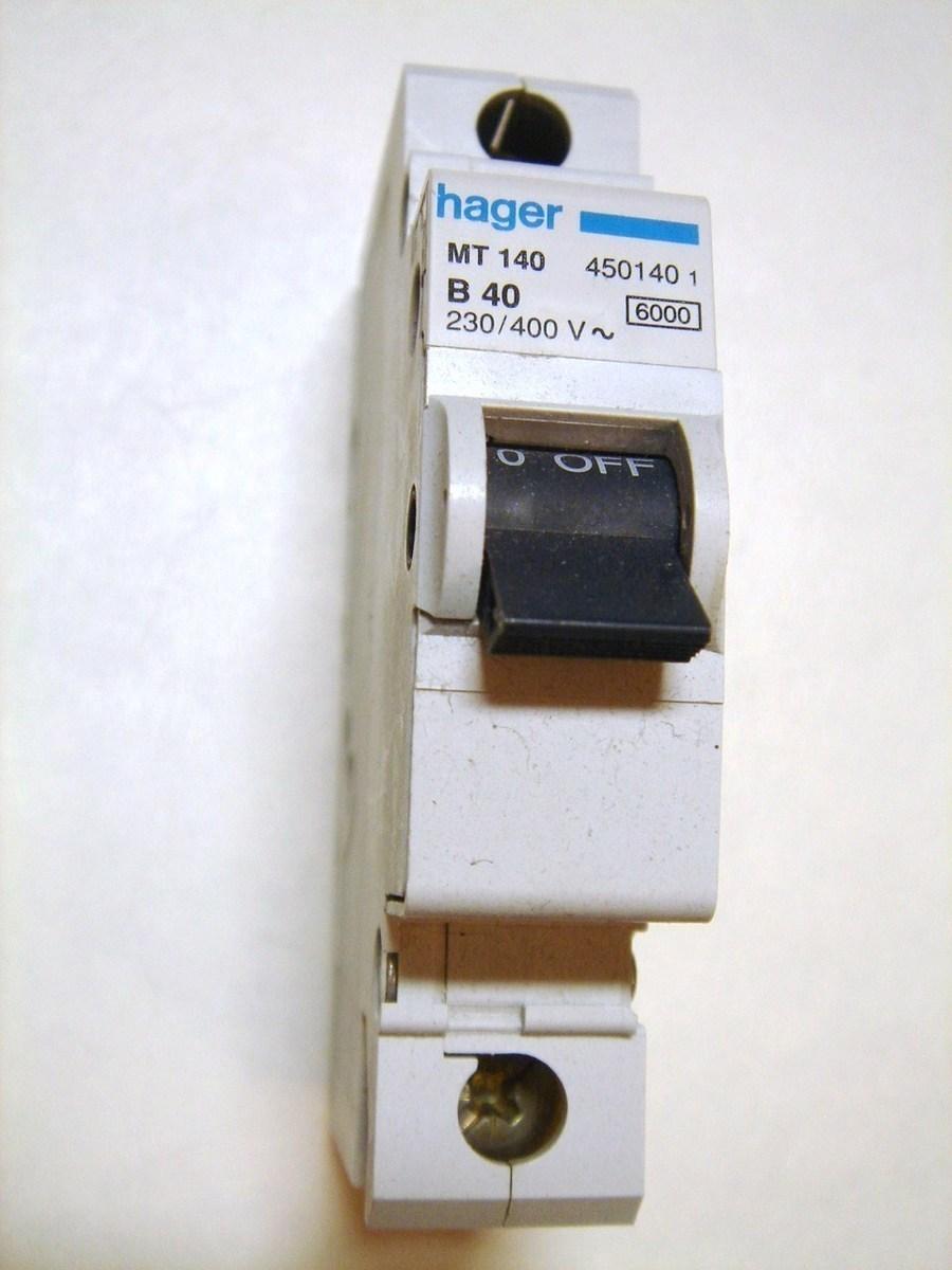 Moodulkaitselüliti 1-faasiline, B 40A, Hager, MT140, 450140