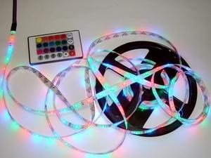 <p> Mitmevärviline(punane, roheline, sinine) LED riba RGB, 3528</p>