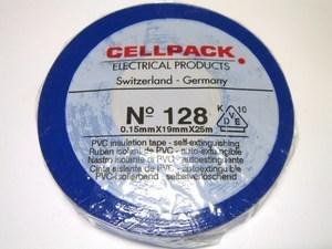 <p> Elektriteip 19mmx25m, sinine, Cellpack 128, 145798</p>