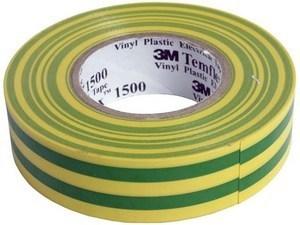 Elektriteip 19mmx25m, kolla-roheline, Protec.class, 05101213