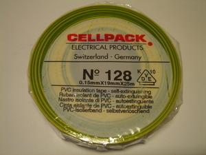 <p> Ostan elektriteipe 19mmx25m, kolla-rohelisi</p>