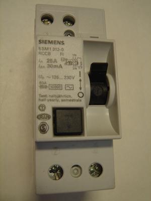 <p> Ostan rikkevoolukaitsmeid 1-faasilisi 25 A. ja 40 A, 30mA(0,03A), Siemens</p>