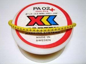 "<p> Juhtmemärgid PA02/3, ""<font color=""#ff0000""><strong>+</strong></font>"", Partex</p>"