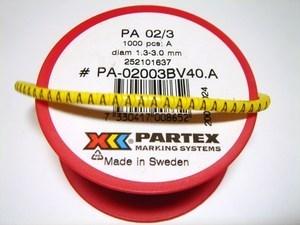 "<p> Juhtmemärgid PA02/3, ""<font color=""#ff0000""><strong>C</strong></font>"", Partex</p>"