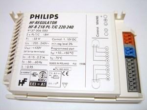 <p> Elektrooniline drossel 2x18 W, Philips, HF-Regulator, HF-R 218 PL-T/C 220-240, 9137006050</p>