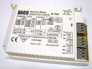 <p> Elektrooniline drossel 1x18-42 W või 2x18-26 W, Hüco, EVG-HP 1x/ 2x 15-42W HC</p>