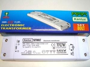<p> Elektrooniline trafo 12 V, 20-80 W, Kanlux SET80LT</p>