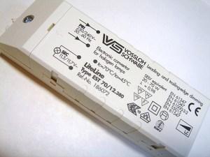 <p> Elektrooniline trafo 12V, 20-70W, Vossloh Schwabe, EST 70/12.380, 186072</p>