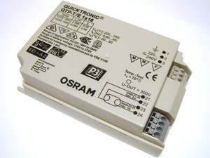 <p> Elektrooniline drossel 1x18 W, Osram, Quicktronic® QTP-T/E 1x18/220-240, 181701</p>