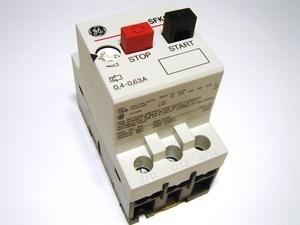 <p> Mootorikaitselüliti 3-faasiline 0,4 - 0,63A, General Electric, SFKOD, 120004</p>