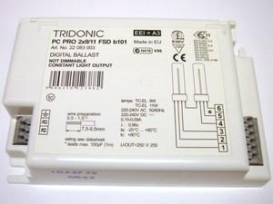 <p> Elektrooniline drossel 2 x 9/11 W, Tridonic Atco, PC PRO2x9/11 FSD b101, 22083003</p>