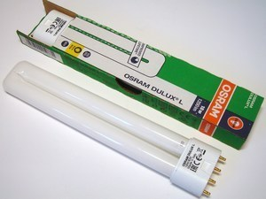 "<p> Kompakt-luminofoorlamp 18 W, Osram Dulux L, 18W/830/2G11, <span style=""color: #ff0000"">4-PIN</span>, 010731</p>"