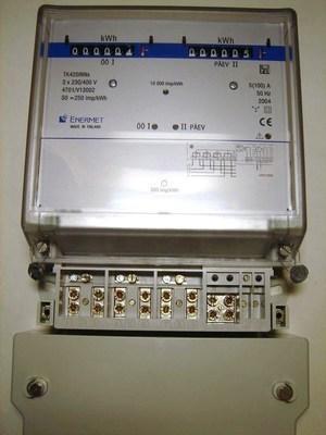 <p> Электросчётчик 3-фазный 2-тарифный 5-100A, TK420iNNs, Enermet</p>